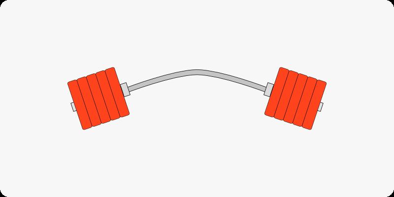 バーベルの耐荷重量