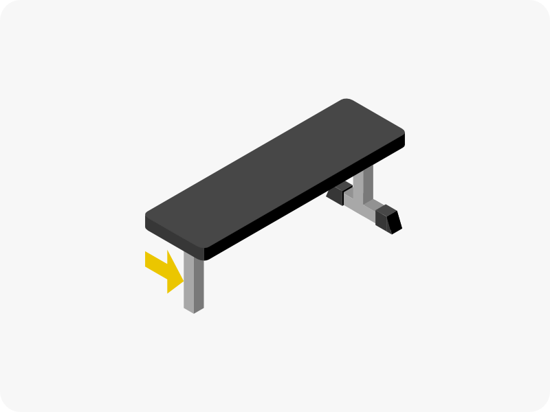 トレーニングベンチの脚の形状