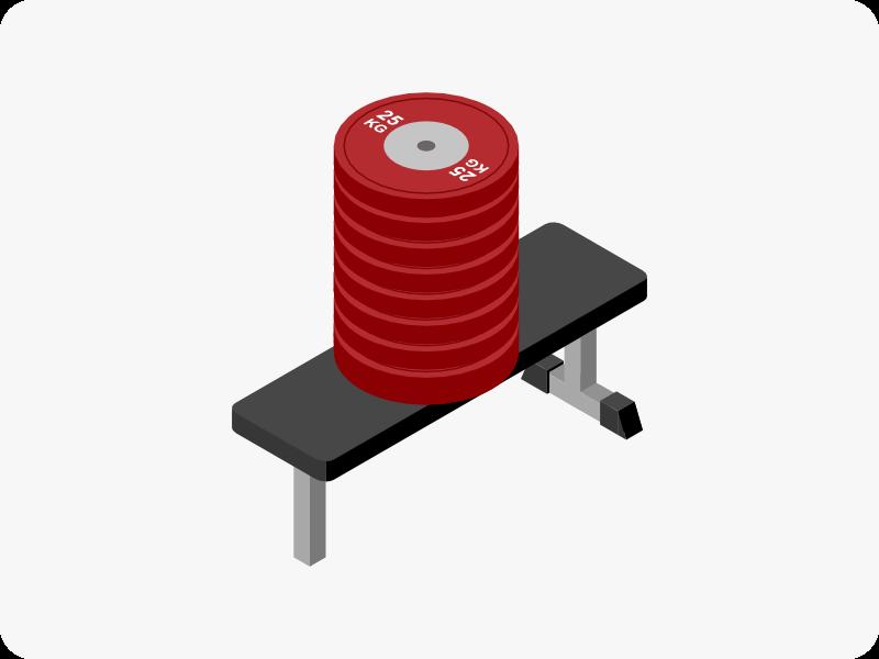 トレーニングベンチの耐荷重量