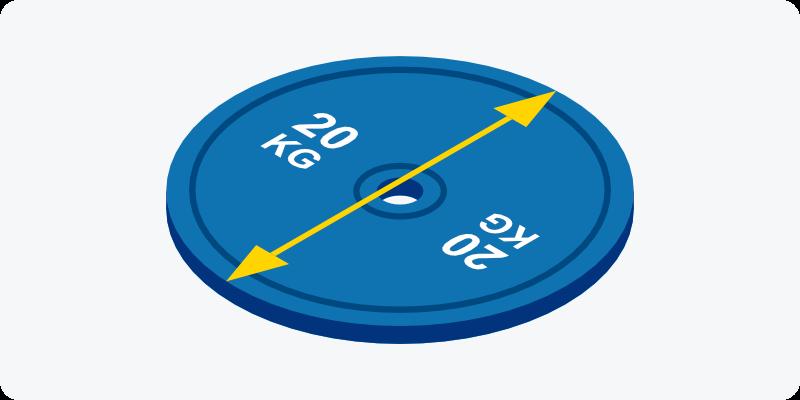 ウエイトプレートの直径