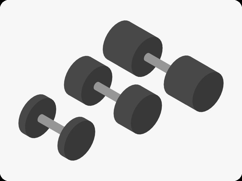 ダンベルの重量